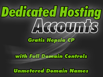 Low-cost dedicated server accounts